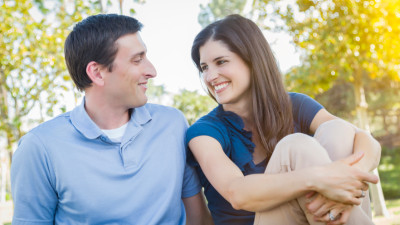 10368378 Young Attractive Couple Portrait in Park